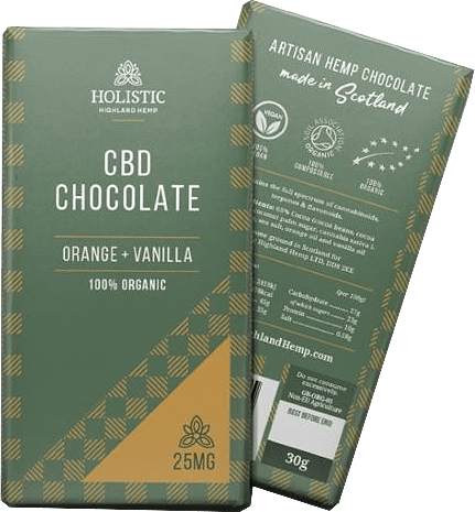 CBD Chocolate - Orange & Vanilla 100% Organic Transparent